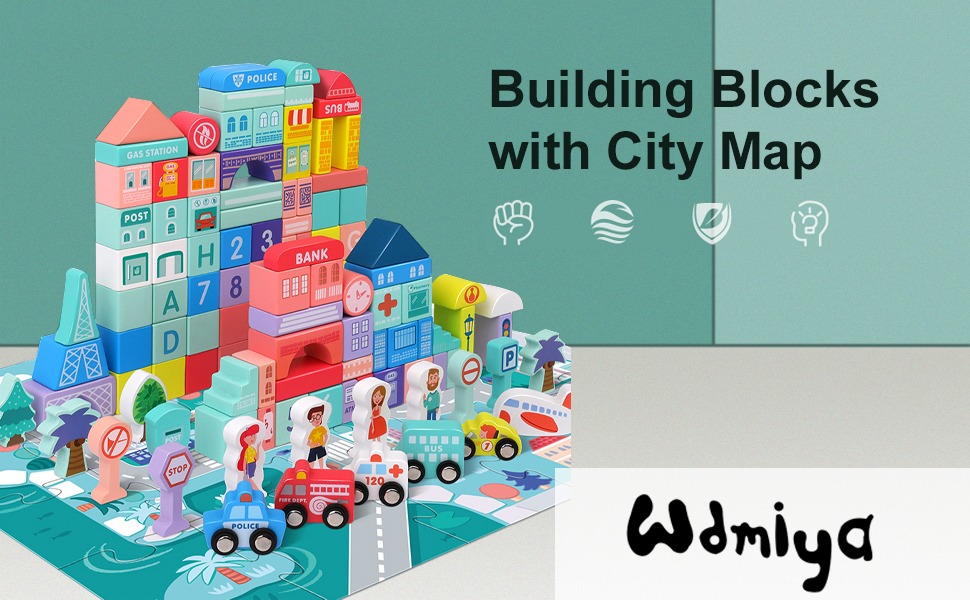 Building Blocks with City Map