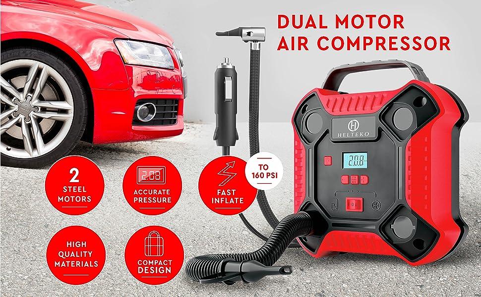 Air Compressor Tire Inflator Pump 12V