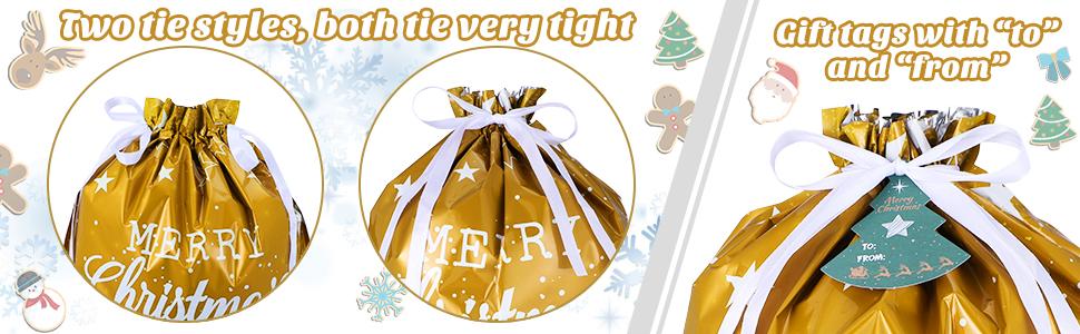 drawstring, gift tag