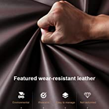 Featured wear-resistant leather
