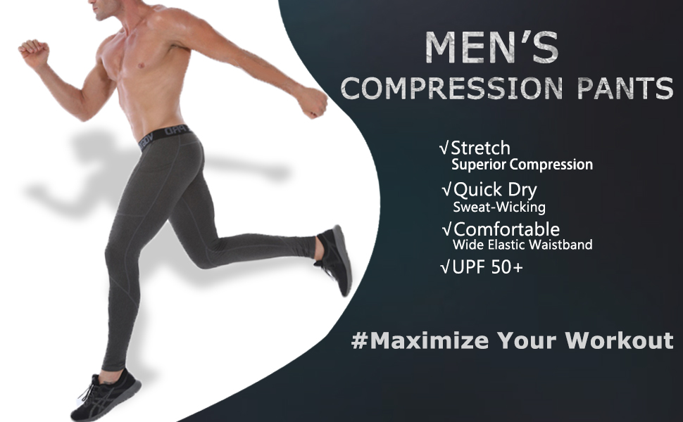 Men/'s Athletic Thermal Compression Pants Gym Workout Long Running Tights Dri-fit