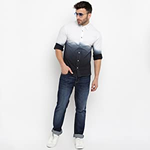 Gritstones Full Sleeves Grey Shirt