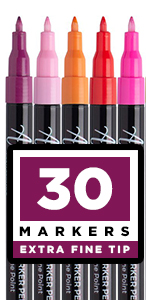 Acrylic Paint Pens for Rock, Stone, Ceramic, Glass, Mugs, Wood, Metal, Fabric, Canvas