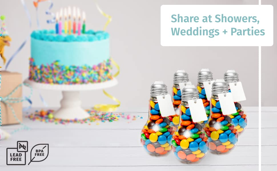 Share at Showers, Weddings + Parties