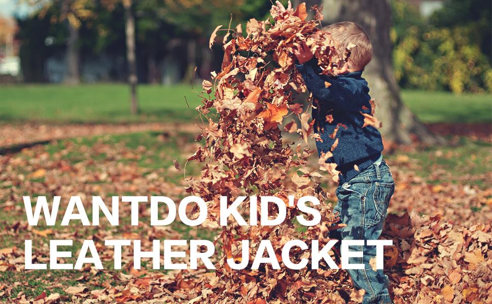 Wantdo Boy's Faux Leather Jacket