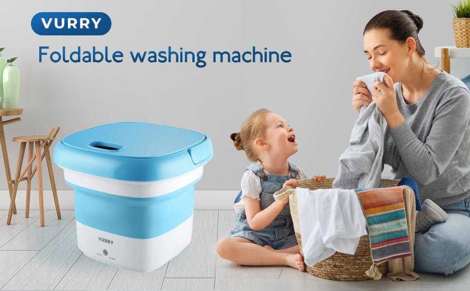 foldable washing machine