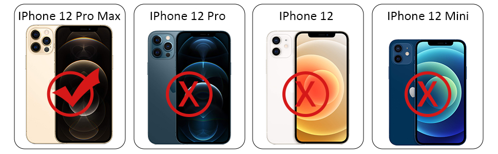 Specifically Designed for iPhone 12 pro max (6.7 inch)