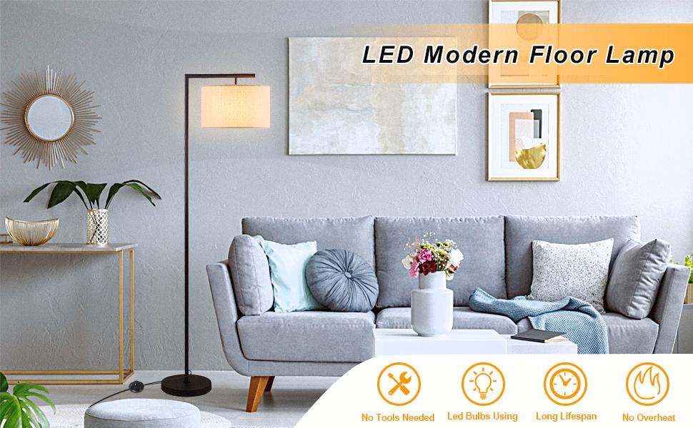 led modern floor lamp