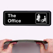 The office sign for door wall MolnijaPro business signs signa signage sighn signe signup sticker