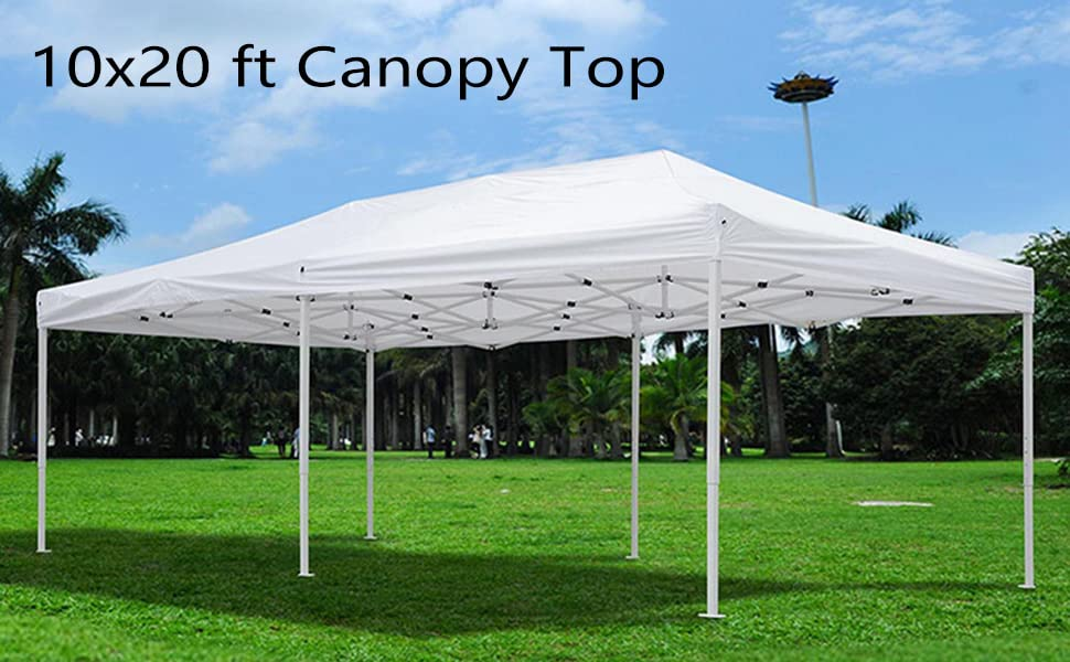 10x20ft Gazebo Tent Canopy Top Replacement//White