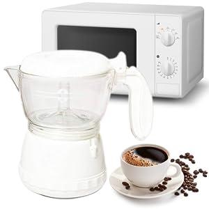 MovilCom® - Cafetera para microondas, cafetera de Viaje Individual ...