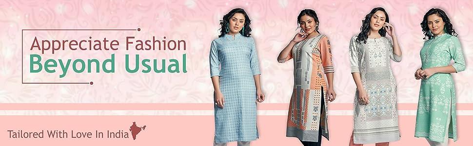 Naixa Women's Rayon Cotton Stitched Kurta SPN-FOR1