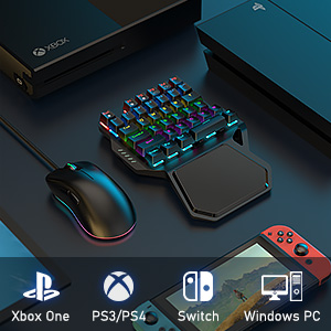 ps4 Xbox one keyboard and mouse adapter converter call of duty fortnite gaming keyboard one handed