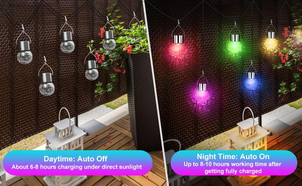 hanging solar lights outdoor waterproof