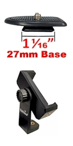 27mm quick release plate phone tripod mount