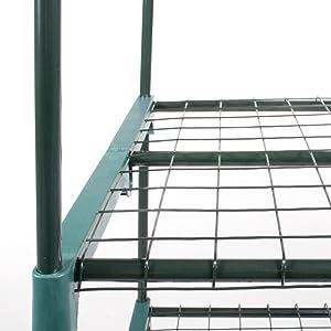 Verdelook, serra, 3 ripiani, incastri, robusta, lunga durata, acciaio, plastica