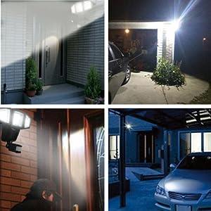LEDガーデンライト ソーラー式センサーライト フリーアイ式LEDセンサーライト ソーラーパネル分離式 昼白色 外灯 人感 防雨 明るい 庭園灯 防雨型センサーライト ソーラー式 常時点灯 停電
