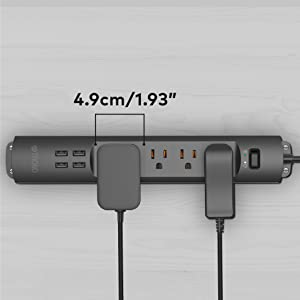 power strip widely spaced