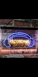 ADVPRO On the Air Recording Headset dual LED neon sign Home Professional Studio decoration Wall Room