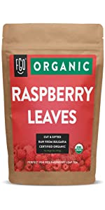 organic raspberry leaves