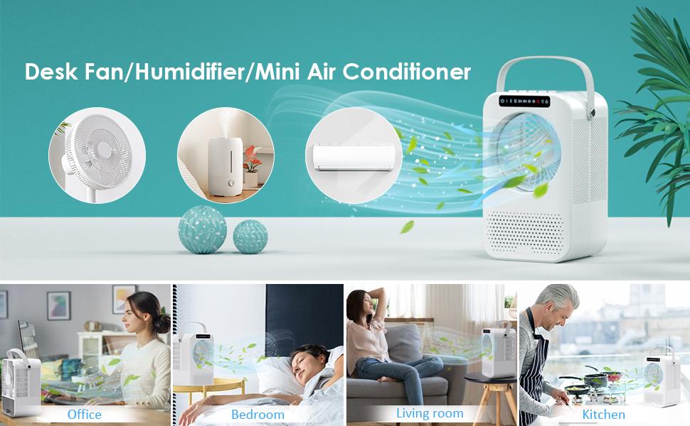 desk fan/ humidifier/ mini air conditioner