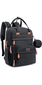 The Black Diaper Bag Backpack