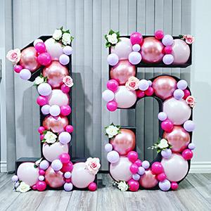 light pink balloons