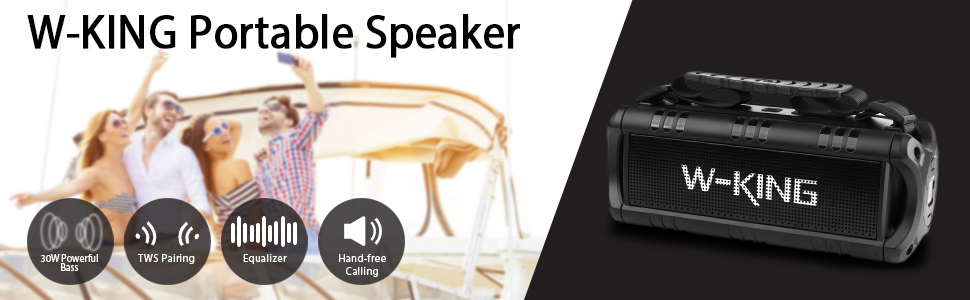 30W Portable Bluetooth Speaker