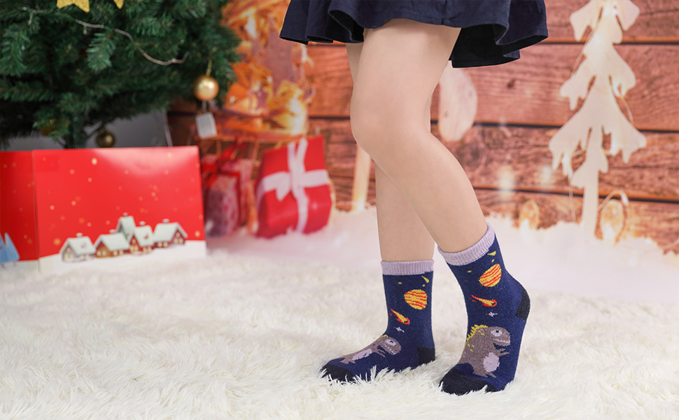 Kids Girls Boys Winter Thick Warm Wool Socks