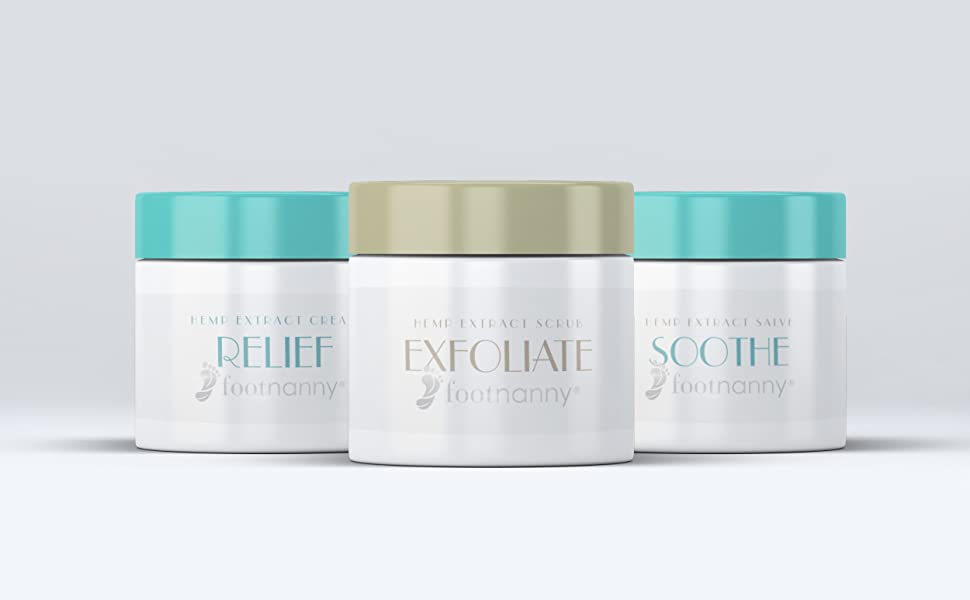 Footnanny Hemp Extract Spa Treatment Set Exfoliate Soothe Relief