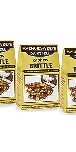 avenuesweets cashew brittle dairy free vegan cashew peanut brittle candy plant based vegan candy
