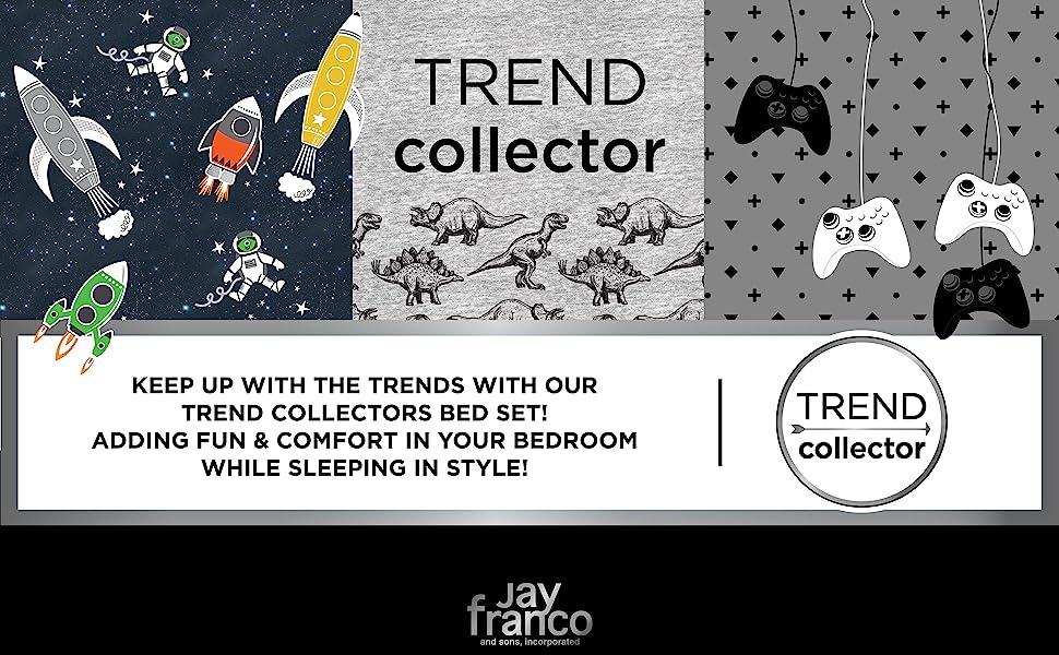 Trend Collector, Spaceship, dinosaur, gamer