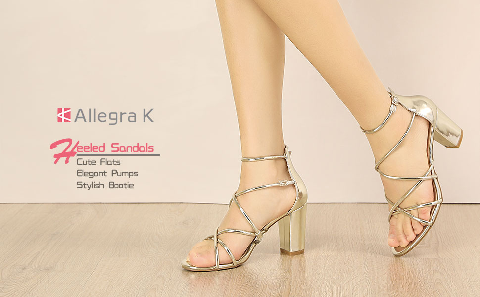 Allegra K Women's Strappy Crisscross