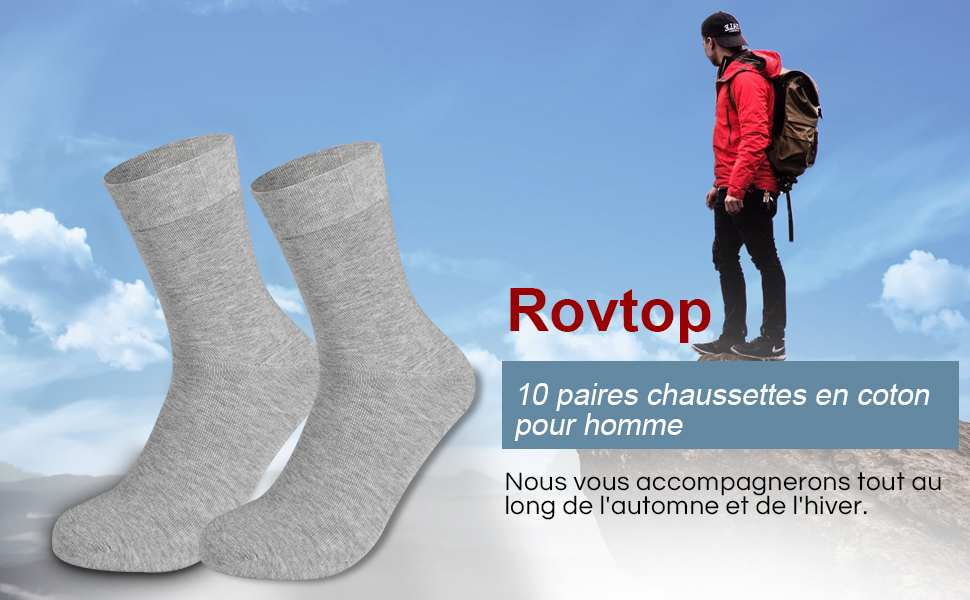 chaussettes homme en coton  pour hiver