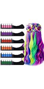 6 Color Hair Chalk Comb