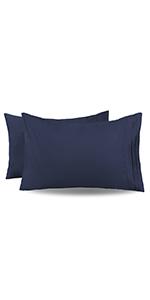 navy blue pillowcases