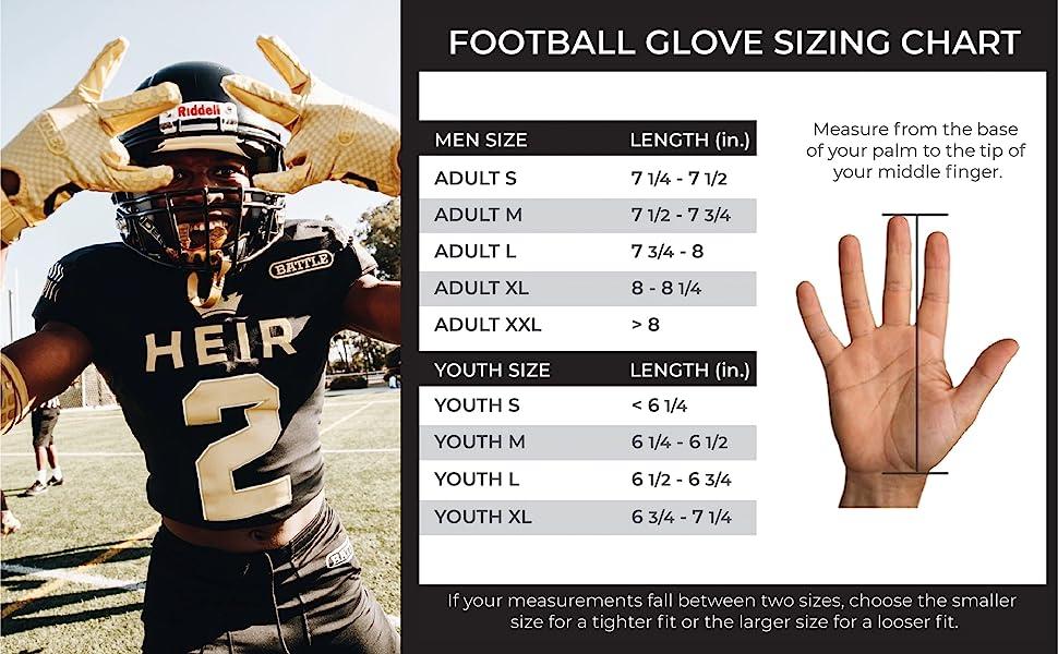 Battle Sports Triple Threat Receivers Gloves