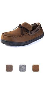 ULTRAIDEAS Men's Cozy Moccasin Slipper