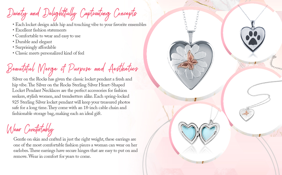 heart shaped necklace heart lockets heart necklaces for women sterling silver small locket