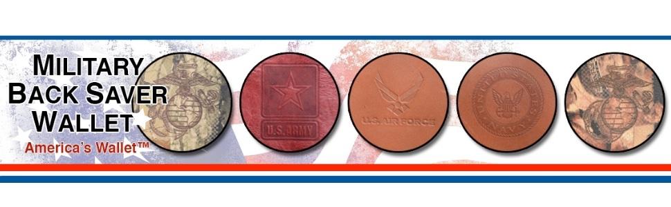 Military Back Saver Wallet USMC Marines US Navy US Air Force US Army US Coast Guard Tactical Wallet