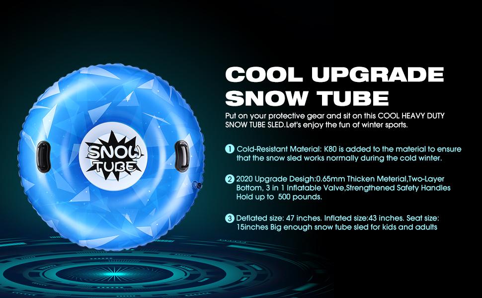 snow tubes for sledding kids heavy duty snow tube sledding