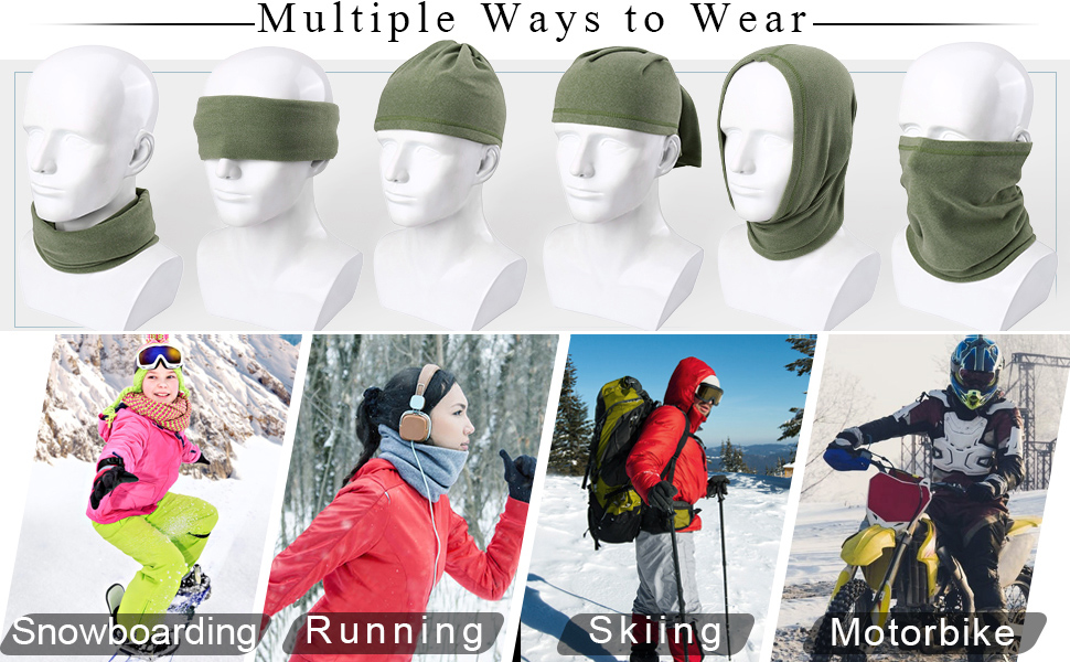 Moisture Wicking Ear Muffs Headwrap Atlanta Falcons Logo Headwear for Men Women Windproof Winter Neck Gaiter Cover Neck Warmer Cover for UV Protection Riding Snowboard