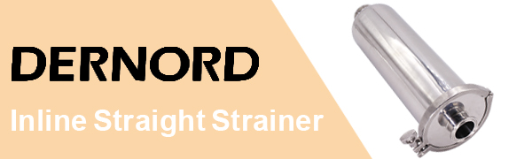 DERNORD Inline Straight Strainer 1.5inch