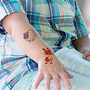 SZSMART Tatuajes Animales Niños Animal de Pegatina Circo Tatuaje Falso Tatuajes Temporales con Temática Animal para Infantiles de Cumpleaños Regalo: Amazon.es: Juguetes y juegos
