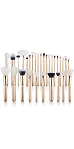 gold makeup brushes