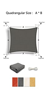 Tronssien shade sail Rectangle