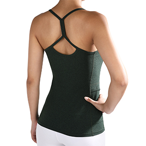 Womens Strappy Tank Tops with Pocket