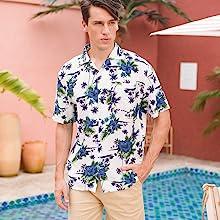 mens short sleeve tropical shirts,floral print shirt,hawaiian shirt for men,tropical shirt,f