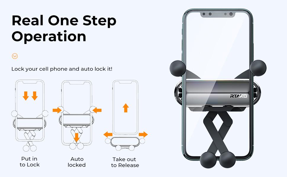Rtako Handyhalterung Auto Gravity Handy Halterung Für Elektronik