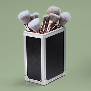 makeup case with brush holder
